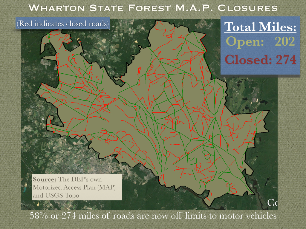 wharton closures presentation jpg. opentrailsnj  solving the problems facing our forests while